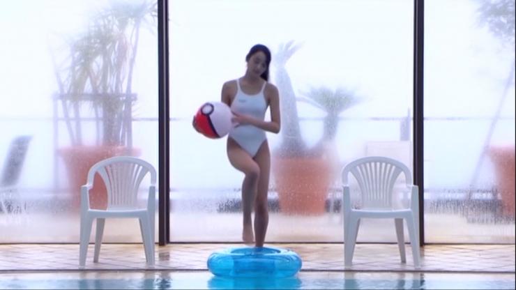 Kagami Kagami White Swimming Costume Image005