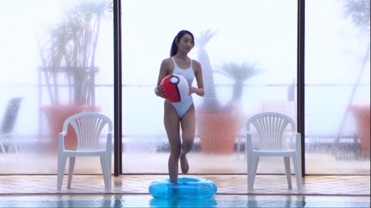 Kagami Kagami White Swimming Costume Image006
