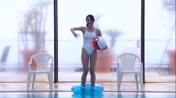 Kagami Kagami White Swimming Costume Image011