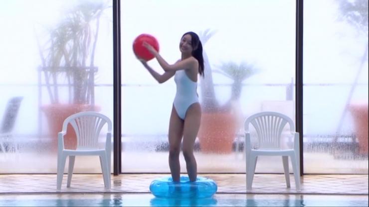 Kagami Kagami White Swimming Costume Image014