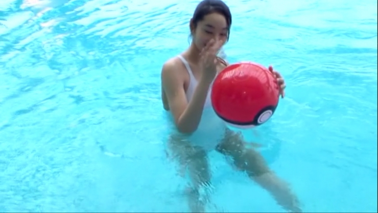 Kagami Kagami White Swimming Costume Image027