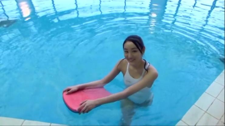 Kagami Kagami White Swimming Costume Image052