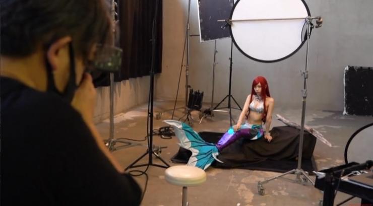 Akari Akase Bikini Mermaid017