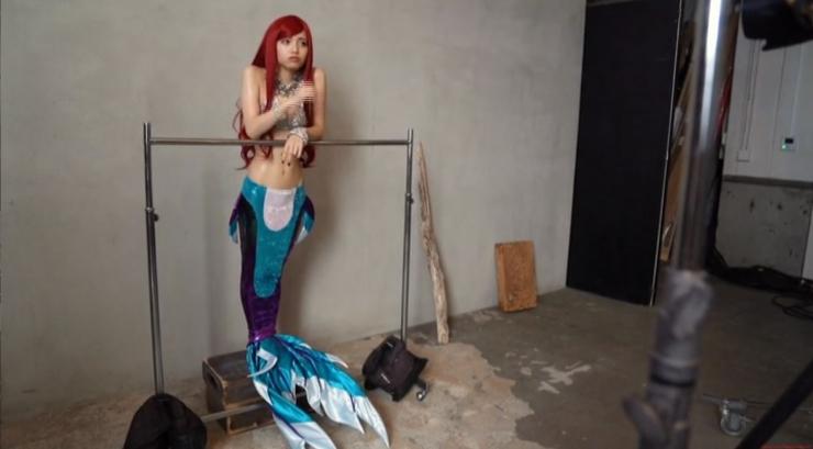 Akari Akase Bikini Mermaid025