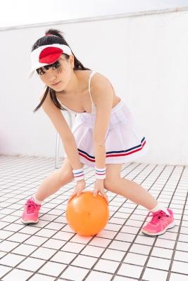 Hinako Tamaki White Swimsuit Tennis Girl016