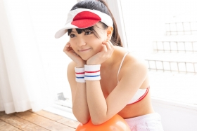 Hinako Tamaki White Swimsuit Tennis Girl026
