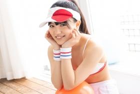 Hinako Tamaki White Swimsuit Tennis Girl027