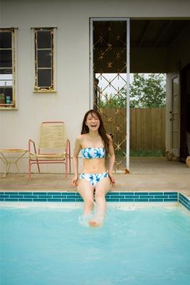 Ai Iwamoto Current College Student 19 years old Vol2Bikini Pool 023