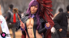 Sayaka Nidori Extreme Exposure Cosplay Macro Smash Cross F/Sheryl Black Rabbit009