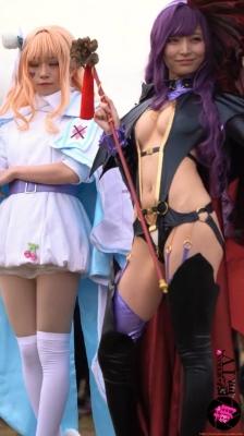 Sayaka Nidori Extreme Exposure Cosplay Macro Smash Cross F/Sheryl Black Rabbit011