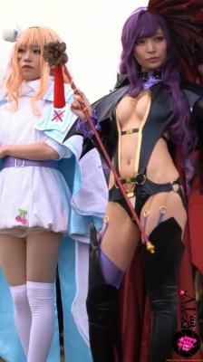 Sayaka Nidori Extreme Exposure Cosplay Macro Smash Cross F/Sheryl Black Rabbit012
