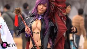 Sayaka Nidori Extreme Exposure Cosplay Macro Smash Cross F/Sheryl Black Rabbit014
