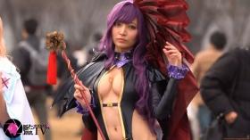 Sayaka Nidori Extreme Exposure Cosplay Macro Smash Cross F/Sheryl Black Rabbit016