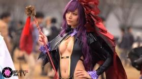 Sayaka Nidori Extreme Exposure Cosplay Macro Smash Cross F/Sheryl Black Rabbit018