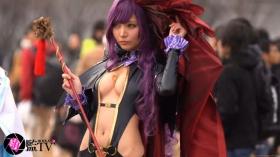 Sayaka Nidori Extreme Exposure Cosplay Macro Smash Cross F/Sheryl Black Rabbit017