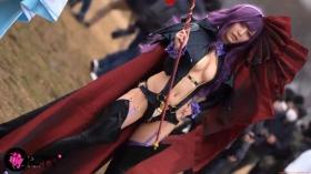 Sayaka Nidori Extreme Exposure Cosplay Macro Smash Cross F/Sheryl Black Rabbit025