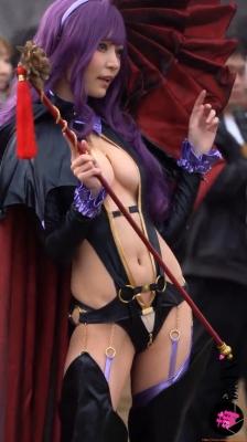 Sayaka Nidori Extreme Exposure Cosplay Macro Smash Cross F/Sheryl Black Rabbit030