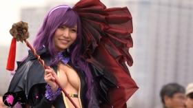Sayaka Nidori Extreme Exposure Cosplay Macro Smash Cross F/Sheryl Black Rabbit039