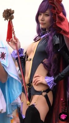 Sayaka Nidori Extreme Exposure Cosplay Macro Smash Cross F/Sheryl Black Rabbit036