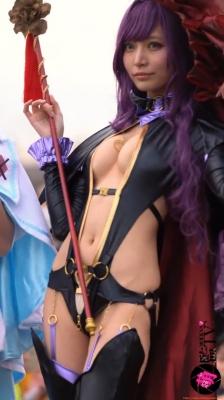 Sayaka Nidori Extreme Exposure Cosplay Macro Smash Cross F/Sheryl Black Rabbit037
