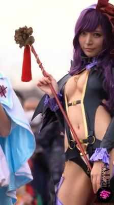 Sayaka Nidori Extreme Exposure Cosplay Macro Smash Cross F/Sheryl Black Rabbit038