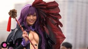 Sayaka Nidori Extreme Exposure Cosplay Macro Smash Cross F/Sheryl Black Rabbit040