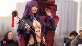 Sayaka Nidori Extreme Exposure Cosplay Macro Smash Cross F/Sheryl Black Rabbit041