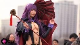 Sayaka Nidori Extreme Exposure Cosplay Macro Smash Cross F/Sheryl Black Rabbit042