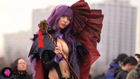 Sayaka Nidori Extreme Exposure Cosplay Macro Smash Cross F/Sheryl Black Rabbit043