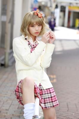 Kikuchi Hina a beautiful Miss Maga girl turns into a gal001