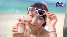 Mihana Hirose Bikini CM Mini Stop Halo Halo Nerin Milk Strawberry004
