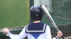 Minami Yamada White Swimsuit Baseball White Bikini004
