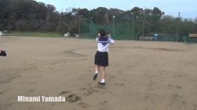 Minami Yamada White Swimsuit Baseball White Bikini023