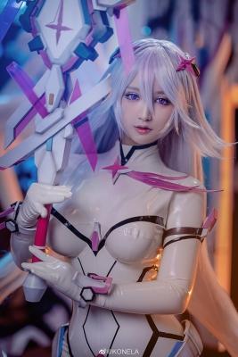 Reina Pilot Suit Cosplay Blue Sky Suspiria Game Mecha Girl003