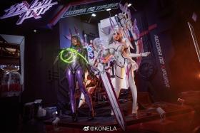 Reina Pilot Suit Cosplay Blue Sky Suspiria Game Mecha Girl008