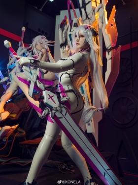 Reina Pilot Suit Cosplay Blue Sky Suspiria Game Mecha Girl010