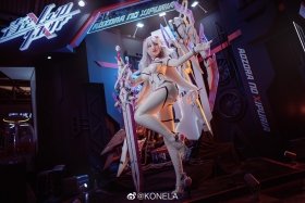 Reina Pilot Suit Cosplay Blue Sky Suspiria Game Mecha Girl007