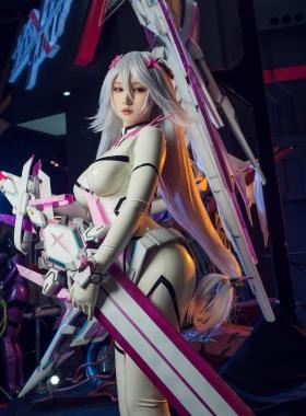 Reina Pilot Suit Cosplay Blue Sky Suspiria Game Mecha Girl017