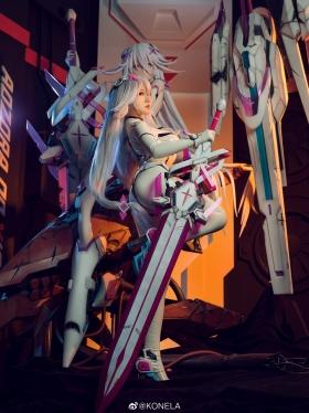 Reina Pilot Suit Cosplay Blue Sky Suspiria Game Mecha Girl014