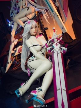 Reina Pilot Suit Cosplay Blue Sky Suspiria Game Mecha Girl015