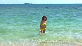 Ikuumi Hisamatsu frolicking on the beach079