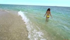 Ikuumi Hisamatsu frolicking on the beach102