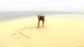 Ikuumi Hisamatsu frolicking on the beach163