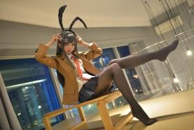Mai Sakurajima Uniform Bunny Girl Youthful P ig Bastard Doesnt See Bunny Girl Senpais Dream057