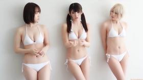 Enako Moe Iori Kokoro Shinozaki, White Bikini Bikini Armor105