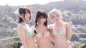 Enako Moe Iori Kokoro Shinozaki, White Bikini Bikini Armor196