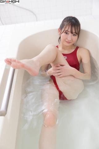 Asami Kondo Red Swimming Race Swimsuit Images Bathing Bathroom009