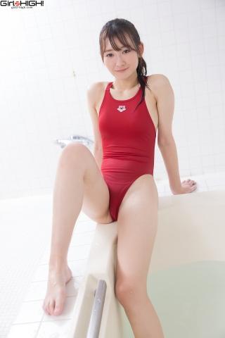 Asami Kondo Red Swimming Race Swimsuit Images Bathing Bathroom030