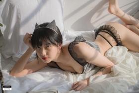 Cat bikini bet Korean gravure model001
