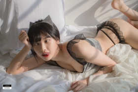 Cat bikini bet Korean gravure model012